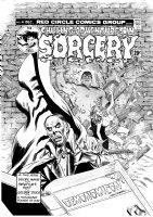 MORROW, GRAY - Chilling Adventures In Sorcery #4 large cover, Lon Chaney Phantom, Necronomicon, Golem 1973 Comic Art
