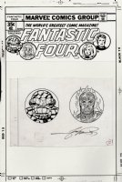PEREZ, GEORGE - Fantastic Four cover mascots, Human Torch and The Thing. Late 1970's from FF issues in the 190's Comic Art