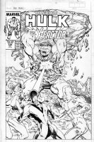 MCFARLANE, TODD - Incredible Hulk #336 cover, Alternate cover and promo poster! Hulk vs X-Factor Comic Art