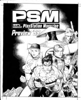 ADAMS, ART - Play Station Magazine Preview '98,  sooo many video game heroes! Comic Art