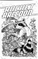 PETERSEN, DAVID - Rocket Raccoon #1-A cover, Rocket armed on mushroom hill  Comic Art