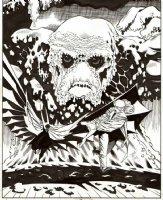 JONES, KELLY - Batman #550 cover-detail, Batman, Clayface, 1st appearance heroine Chase, 1997 Comic Art