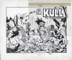 JUSKO, JOE - Kull The Conqueror #1 Wrap-Around Giant cover with logo 1983 Comic Art