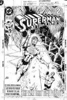 JURGENS, DAN - Action Comics #671 1st cover, Superman playing Gilligan's Island Comic Art