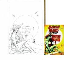 HUGHES, ADAM - She-Hulk Best of Swimsuit book prelim cover Comic Art