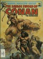 NOREM, EARL- Savage Sword of Conan #70 cover painting, Conan & Blonde vs giant ant god Comic Art