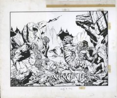 JUSKO, JOE - Kull The Conqueror #1 Wrap-Around Giant cover with No logo 1983 Comic Art