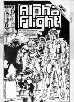 BYRNE, JOHN - Alpha Flight #28 cover, Hulk & Secret Wars X-over Comic Art