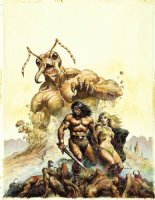 NOREM, EARL- Savage Sword of Conan #70 painted cover without overlay Comic Art