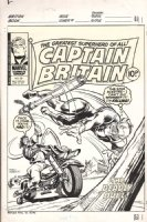 MARCOS, PABLO - Captain Britain #38 cover,  Marvel UK 1977 Comic Art