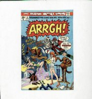 ANDRU, ROSS - Arrgh! #6 cover, color art, final issue Comic Art