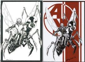 SEPULVEDA, MIGUEL - Ant-Man Prelude #1 Promo Series Artwork + print, Hank Pym flies Ant 2015 Comic Art
