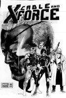 ANDRASOFSZKY, KALMAN - Cable and X-Force #6 large Variant Cover, Domino & team 2013 Comic Art