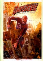 EDWARDS, TOMMY LEE - Daredevil #83 painted cover, DD on a cross! Logo and background elements on overlay Comic Art