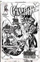 SKROCE, STEVE - Gambit #10 cover, Gambit, gem Gambit kissing Rogue Comic Art