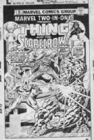 WILSON, RON & JOE SINNOTT - Marvel Two In One #18 cover, huge Thing, 3rd Scarecrow Comic Art