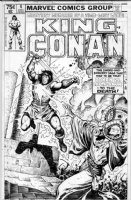 BUSCEMA, JOHN - King Conan #4 cover, Conan vs Thoth-Amon Comic Art
