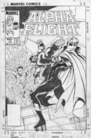 BYRNE, JOHN - Alpha Flight #16 cover, with Submariner  Comic Art