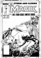 BUSCEMA, JOHN / TOM PALMER - Magik #1 cover Storm, Kitty, Nightcrawler & Magik vs Belassco, Without EFX overlay Comic Art