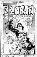 SEMEIKS, VAL / ISHERWOOD - Conan #208 cover Comic Art