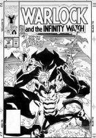 GRINDBERG, TOM - Warlock & the Infinity Watch #16 cover Comic Art