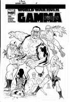 ROUX, STEPHANE - Hulk Gamma Corp #1 cover, homage to Kirby's Avengers #4 Comic Art