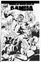 ROUX, STEPHANE - Hulk Gamma Corp #3 cover, Hulk VS Gamma Corps Comic Art