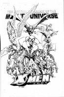 DEODATO, MIKE - X-Men Handbook Marvel Universe 2005 cover #1, full team cast Comic Art