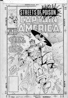 LIM, RON - Captain America #372 cover, large Cap Comic Art