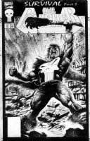 MAYERICK, VAL - The Punisher #79 cover, Punisher goes wild Comic Art