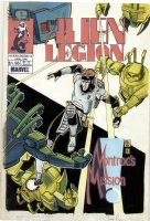 POTTS, CARL & CIROCCO, FRANK - Alien Legion #13 painted cover Comic Art