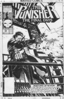 GOLDEN, MIKE - Punisher #53 cover, with both guns  Comic Art