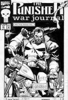 GARNEY, RON / KLAUS JANSON - Punisher War Journal #51 cover, on bike with guns!  Comic Art