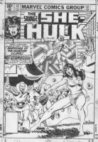 VOSBURG, MIKE - She-Hulk #13 cover, Shulky & Man-Wolf Comic Art