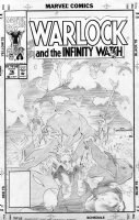 GRINDBERG, TOM - Warlock & Infinity Watch #16 cover, finished pencil Comic Art