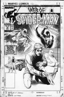 GEIGER, STEVE - Web Of Spiderman #30 cover, Black Spiderman, Hobgoblin, Kingpin & Rose Comic Art