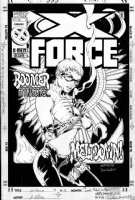 POLLINA, ADAM - X-Force #51 cover, Boom Boom poster style  Comic Art