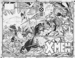 ROMITA JR, JOHN / KLAUS JANSON - X-Men Omega #1 double cover, back cover published twice Comic Art