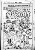 ANDRU, ROSS - Arrgh! #6 cover, Marvel humor series, movie Werewolf- final issue! 1975 Comic Art