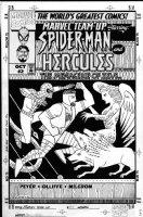 OLLIFFE, PAT / AL WILLIAMSON - Marvel Team-Up v2 #2 cover, Spider-Man & Hercules ancient Greek style Comic Art