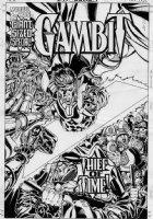 SKROCE, STEVE - Gambit #12 cover, Gambit vs Doom or bobbies Comic Art