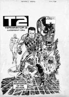 SEVERIN, MARIE / KLAUS JANSON - Terminator II Marvel Magazine, 2-up cover, Arnold Schwarzenegger Comic Art