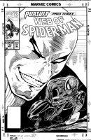 SAVIUK, ALEX - Web of Spiderman #112 cover, unpublished first version,Spidey vs 1st villain - Chameleon Comic Art