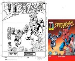 WILLIAMS, SIMON - Spider-Man Season #1 DVD Cover, Spidey gets ambushed by Venom! Comic Art