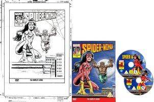 WILLIAMS, SIMON - Spider-Woman Season 1 DVD cover, Spiderwoman & Werewolf Comic Art