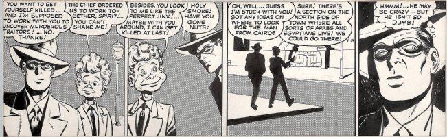 COLE, JACK with GIL FOX inks - Eisner' Spirit Daily 1943, Spirit & Lucky Chance Comic Art