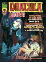 DOMINGUEZ, LUIS - Dracula Lives #5 cover painting, Dracula surprises a scantily clad Mina Harker! Shown with logo as published Comic Art