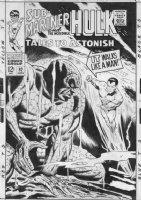 ADKINS, DAN / EVERETT Subby assist - Tales To Astonish #92 large cover, Sub-Mariner Comic Art
