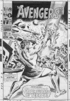 HECK, DON - Avengers #39 2-up cover, Hercules saves & joins Avengers Comic Art