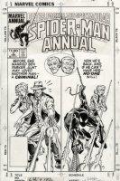 MILGROM, AL - Spectacular Spider-Man Annual #4 cover, Black Spiderman, Parker family origin, 1984 Comic Art